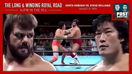 "WH Park and upNXT's Davie Portman walk down the Long & Winding Royal Road to talk about Kenta Kobashi vs. ""Dr. Death"" Steve Williams from August 31, 1993."