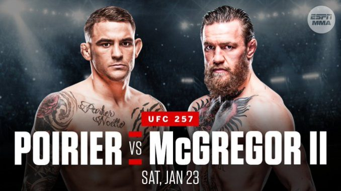 Conor McGregor vs. Dustin Poirier official for UFC 257