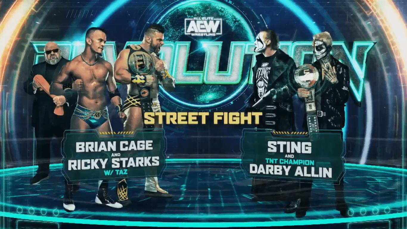 Sting & Darby Allin vs. Brian Cage & Ricky Starks set for AEW Revolution