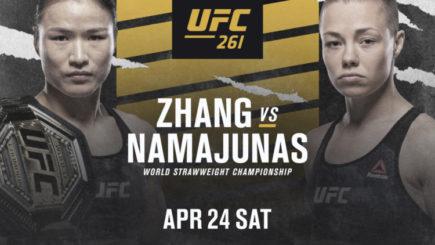 UFC 261 Report: Namajunas knocks out Zhang to win UFC Strawweight Championship